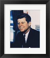 Framed John F. Kennedy, White House Color Photo Portrait