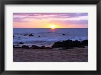 Framed Keawakapu Beach Sunset Long Exposure