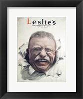 Framed Leslies Illustrated Weekly Newspaper Nov. 1916 Teddy Roosevelt