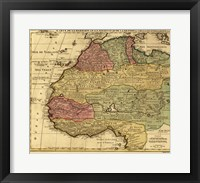 Framed Map of Africa 1742