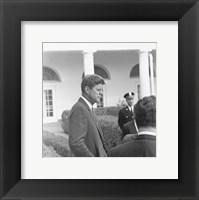 Framed President KennedyGreets Latin American Archivists