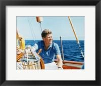 Framed President Kennedy Vacations at Hammersmith Farm