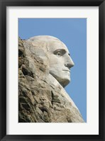 Framed Sideview of George Washington Statue at Mt Rushmore