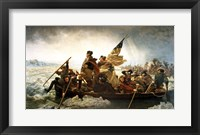 Framed Washington Crossing the Delaware by Emanuel Leutze