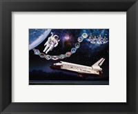 Framed Space Shuttle Challenger tribute poster