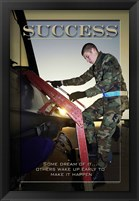 Framed Success Affirmation Poster, USAF