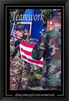 Framed Teamwork Affirmation Poster