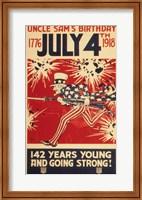 Framed Uncle Sam's Birthday 1776 July 4th 1918