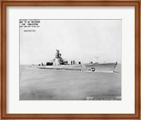 Framed USS Whale Early US  Submarine