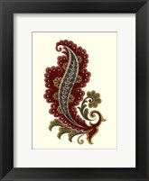 Jacobean Leaf I Framed Print