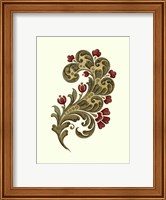 Framed Jacobean Leaf II