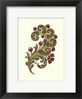 Jacobean Leaf II Framed Print