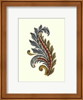 Framed Jacobean Leaf III