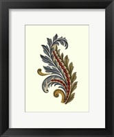Jacobean Leaf III Framed Print