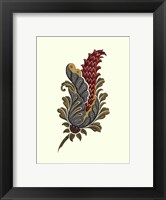 Framed Jacobean Leaf IV