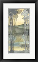 Framed Small Nouveau Landscape I