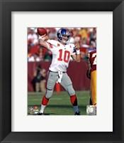 Framed Eli Manning 2011 Action