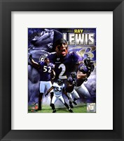 Framed Ray Lewis 2011 Portrait Plus