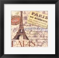 Travel Scrapbook IV Framed Print