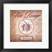 Wine Label I Framed Print