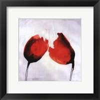 Red Drops II Framed Print
