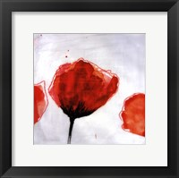 Red Drops III Framed Print