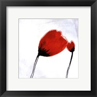 Framed Red Drops IV