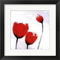 Framed Red Drops VII