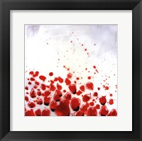 Red Drops VIII Framed Print