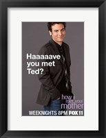 Framed How I Met Your Mother - Haaaaave you met Ted?