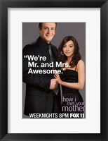 Framed How I Met Your Mother - We're Mr. and Mrs. Awesome