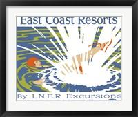 Framed East Coast Resorts - London & North Eastern Railway circa 1930
