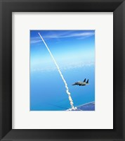 Framed 4th FW Strike Eagles Assist Shuttle Launch