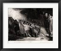 Framed George Romney - William Shakespeare - The Tempest Act I, Scene 1
