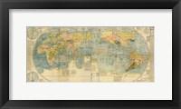 Framed Japanese World Map