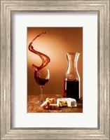 Framed Schwappender Wein