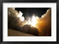 Framed STS-130 Exhaust Cloud Engulfs Launch Pad 39A