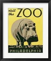 Framed Visit the Zoo - Philadelphia