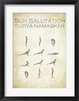 Framed Sun Salutation Chart
