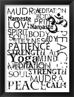 Framed Yoga Words