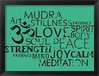 Framed Yoga Words