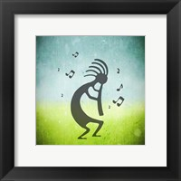 Framed Kokopelli Music III