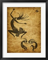 Framed Kokopelli Drum Circle
