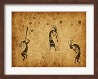 Framed Kokopelli Jamming