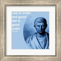 Framed Aristotle Law Quote