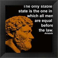 Framed Aristotle Quote