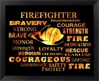 Framed Firefighter Words