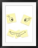 Framed Post- It Smiley Face