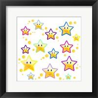 Happy Face Stars Framed Print