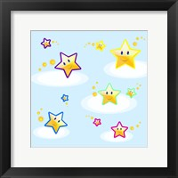 Star Smiles on Clouds Framed Print